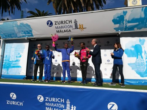 podium maraton malaga