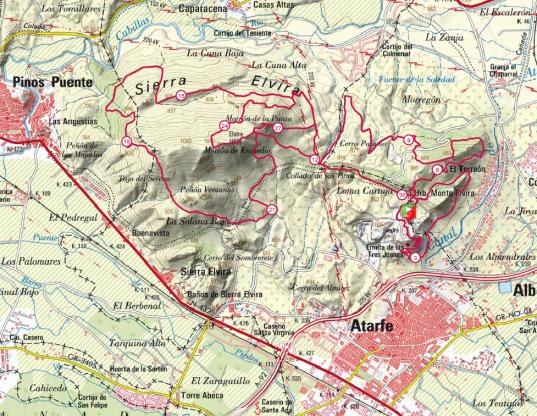 mapa sierra elvira