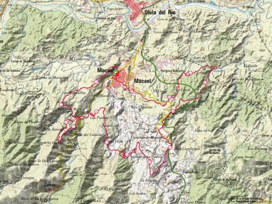 Recorrido Trail Macael