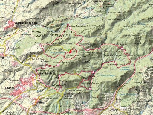 mapa benamerita