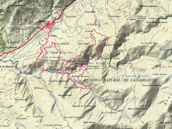 mapa jerte