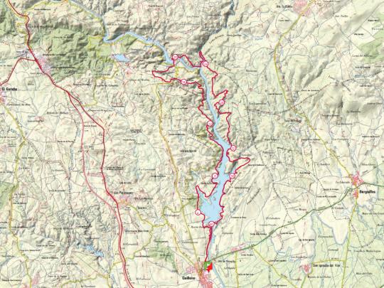 recorrido ruta del agua