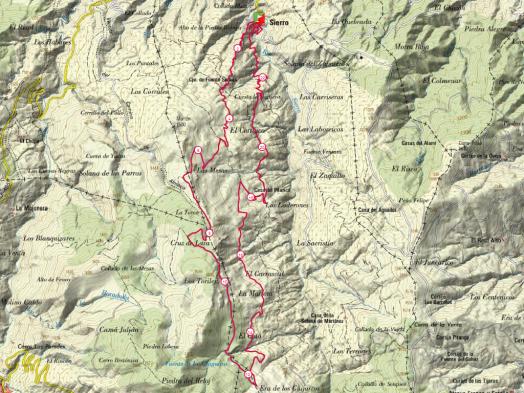 sierro map