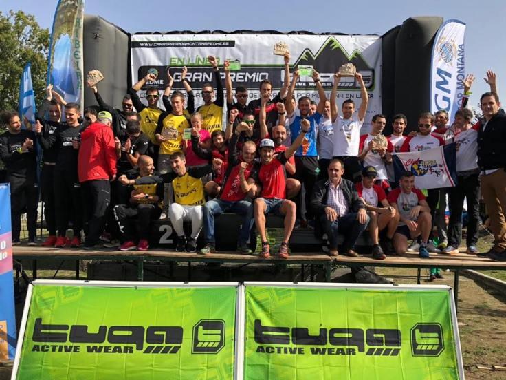 podium campeonato de España clubes