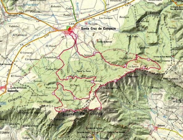 mapa Kampezu