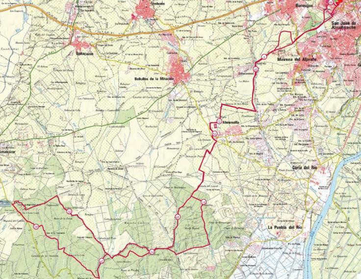 mapa Pretoriana