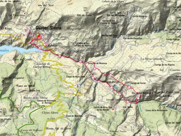 Mapa carrera corta