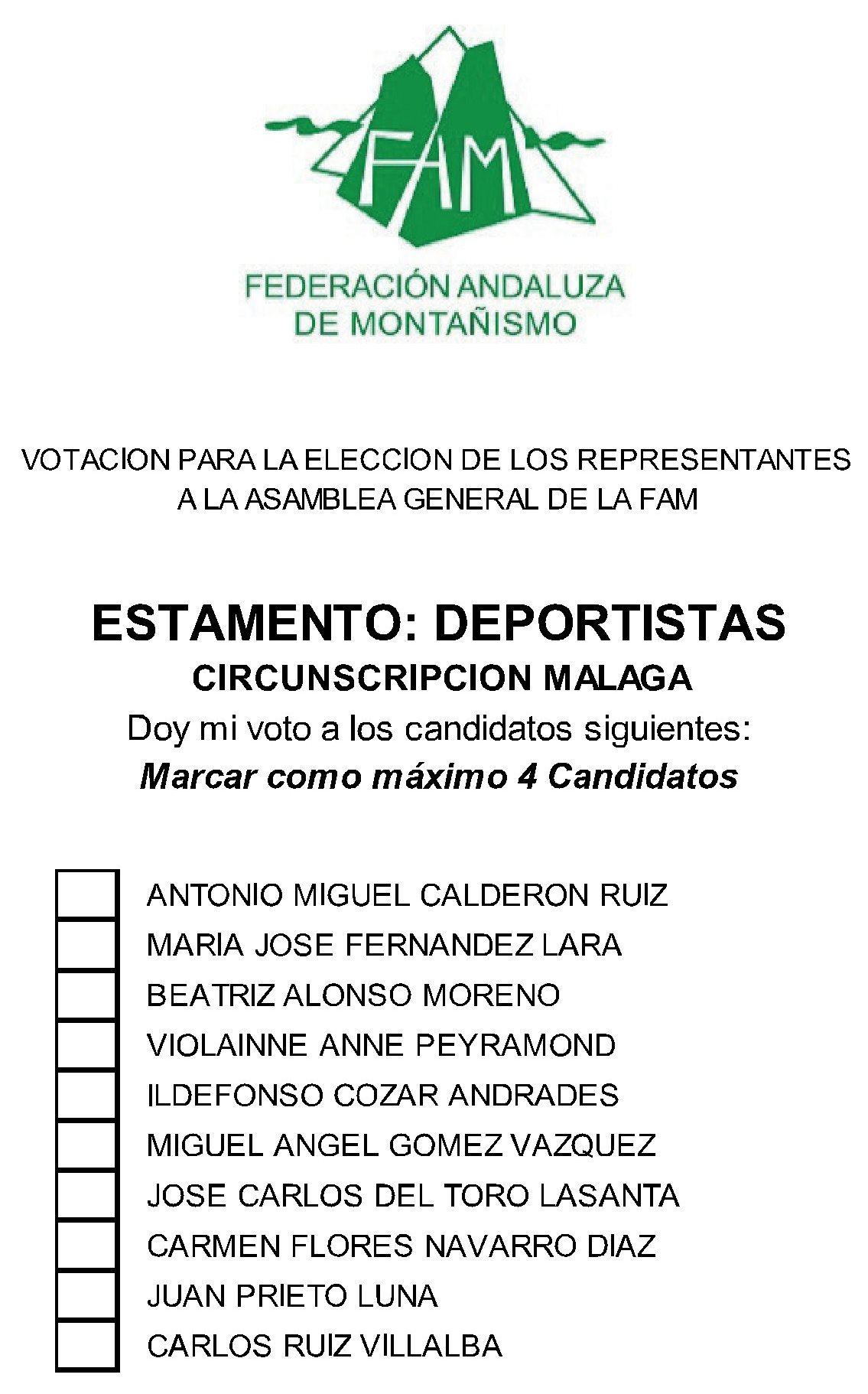 Papeleta Malaga